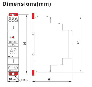 R8 Control Relay Intermediate Relay
