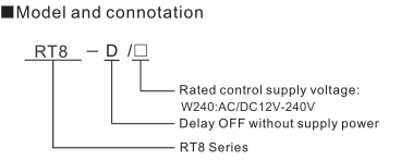 RT8 Timer Relay Delay Off Without Supply Voltage