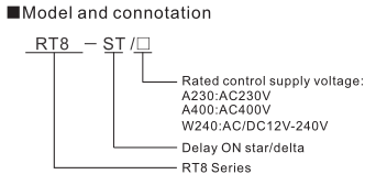 RT8 Time Relay Delay On Star Delta