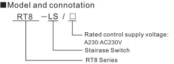 RT8 Time Relay Staircase Switch
