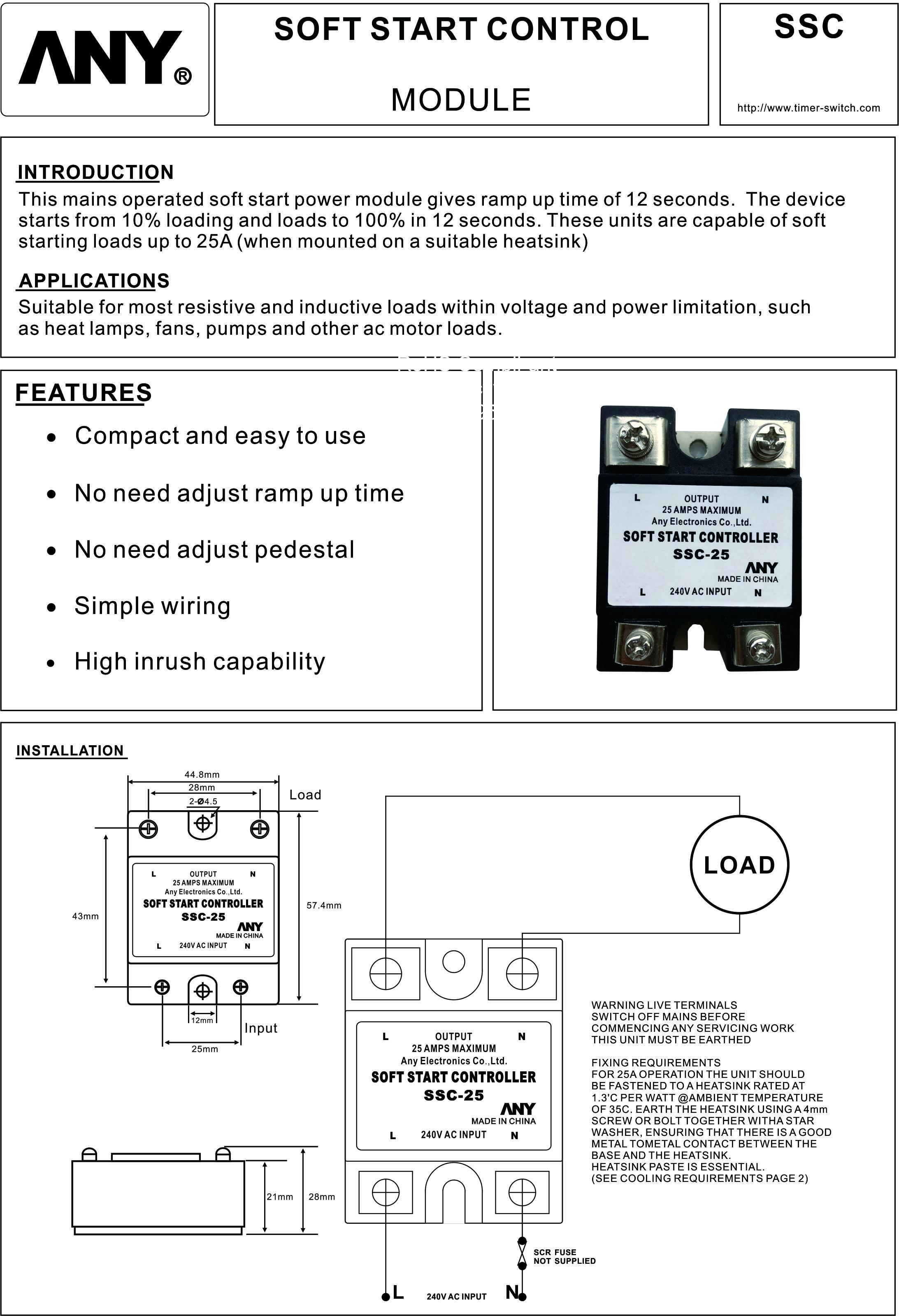 SSC-25 Soft Start Controller